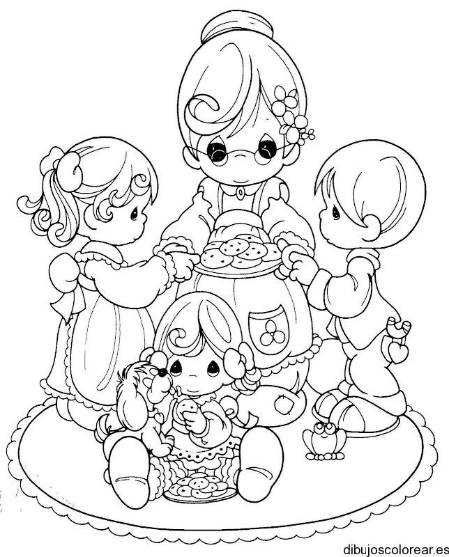 Dibujo De Una Abuela Y Sus Nietos