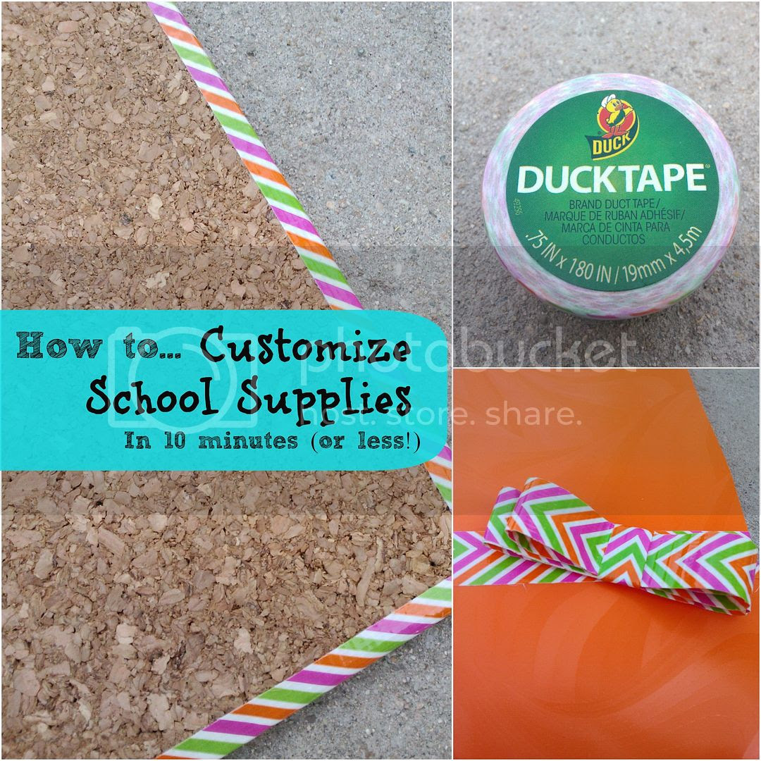 customize school supplies with Duck Tape®
