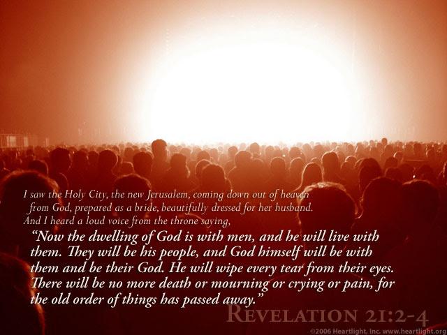 Inspirational illustration of Revelation 21:2-4