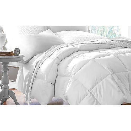 Blue Ridge Home Fashion Microfiber Down Alternative Comforter, White, Full/Queen