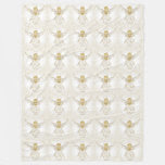 Blocks of Gold Christmas Angel of Grace Holiday Fleece Blanket