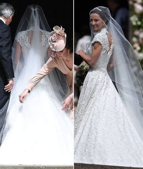 Pippa Middleton wedding: Lace wedding dress pictured, made