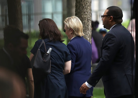 Hillary Clinton Abruptly Leaves 9/11 Memorial Ceremony Early, Reports Say She Fainted on Way to Van - Breitbart