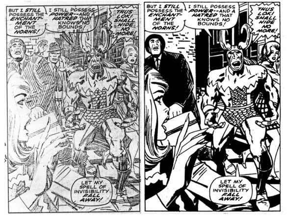 Vince Colletta inks Jack Kirby