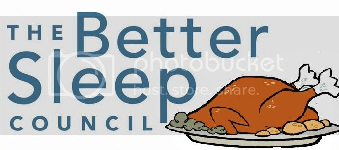 not their real logo, which shows someone stretching after a good night's sleep on a NEW MATTRESS