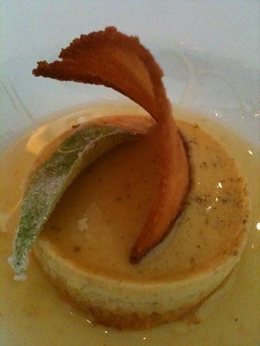 Curry Leaf Infused Coconut Custard Cake @ Dosa