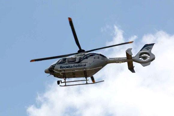 Helicóptero vai ajudar a fiscalizar quem sonega imposto em obras / Foto: Divulgação