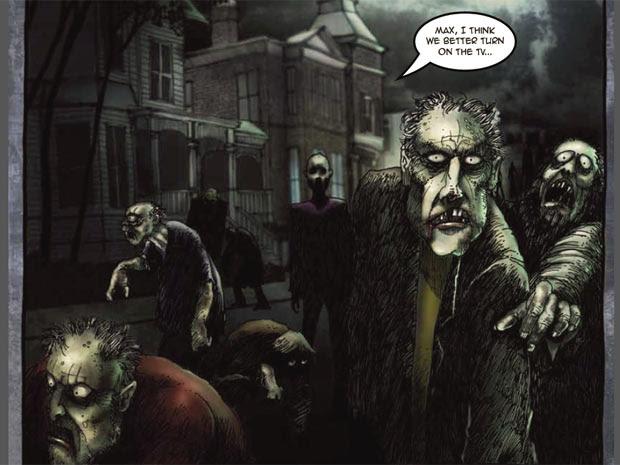 Cena da história em quadrinhos criada pelo CDC, dos Estados Unidos (Foto: Reprodução)