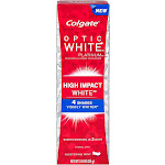 Colgate Optic White Platinum High Impact White Anticavity Flouride Toothpaste, Glistening Mint 3 Oz