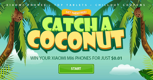 Join the COCONUT GAME,Win Xiaomi Mi 6 Phones!