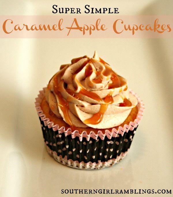 Super Simple Caramel Apple Cupcakes! #recipe #dessert #apple