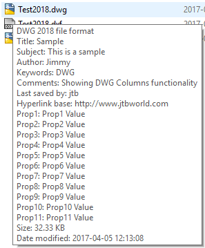 DwgInfoTip with DWG 2018 support