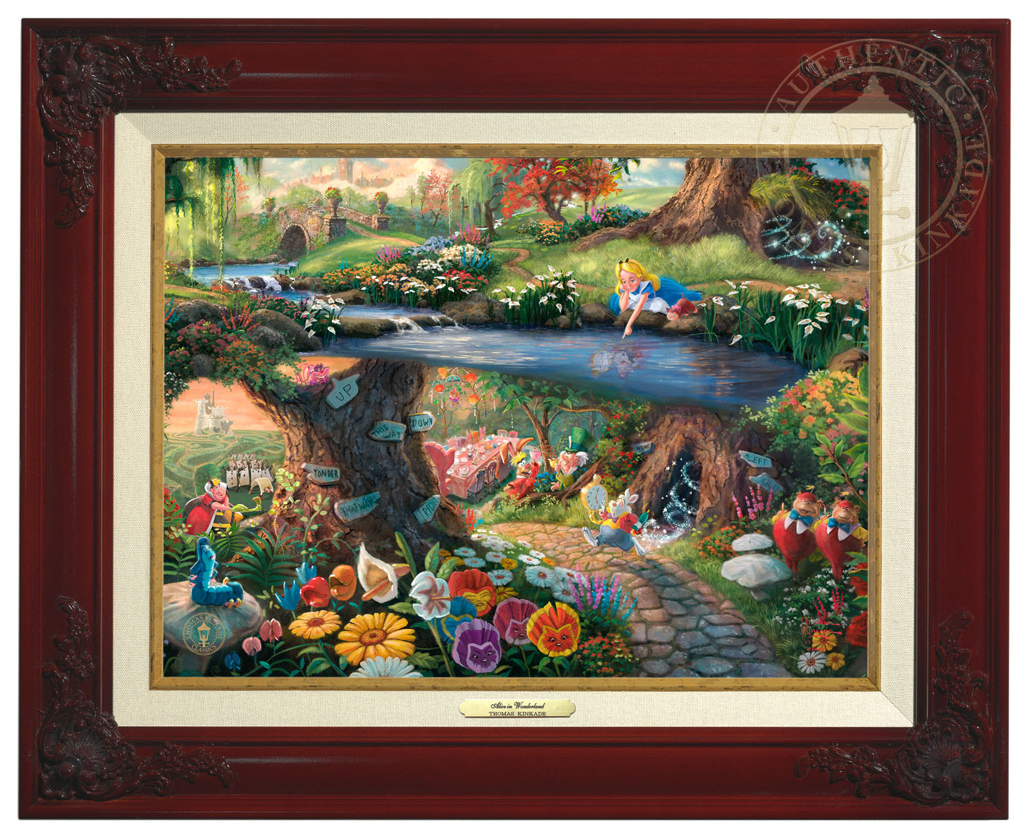 Disneys Alice In Wonderland Canvas Classic Brandy Frame