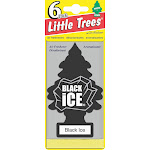 Little Trees Air Freshener 6-Pak, Black Ice