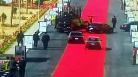 Egyptian President Rolls Out 2.5 Mile Red Carpet For His Motorcade