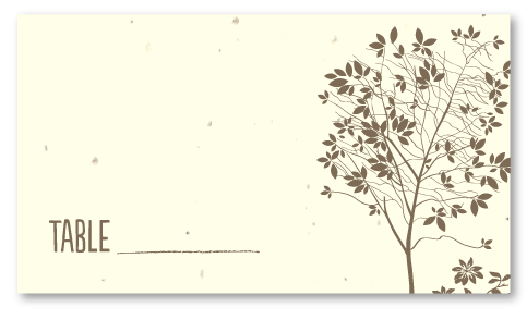 Natural Tree Table Cards