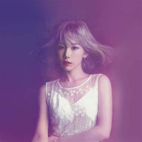hk taeyeon snsd kpop girl purple pink wallpaper