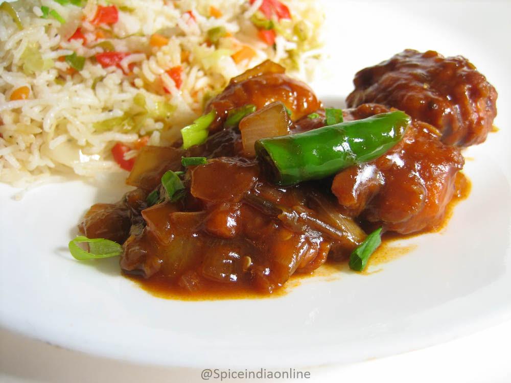 CHILLI CHICKEN RECIPE - Restaurant Style Chilli Chicken ...