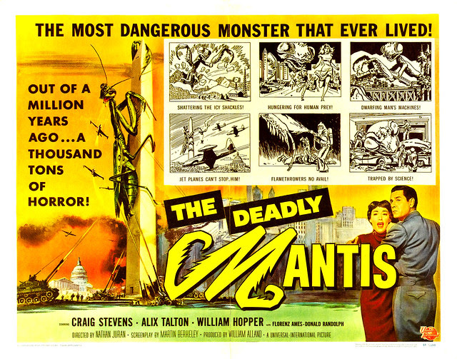 Reynold Brown - The Deadly Mantis (Universal International, 1957) half sheet