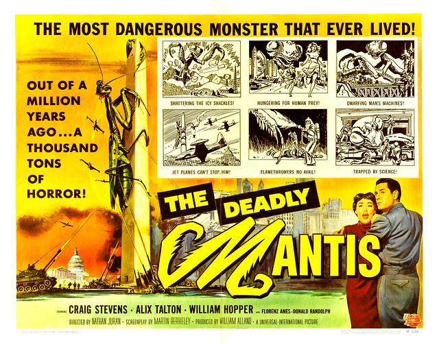 Reynold Brown - The Deadly Mantis (Universal International, 1957) half sheet