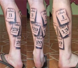 Calendar Leg Tattoo Designs For Men Tattoo Love