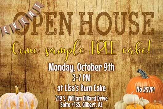 Free Cake Tasting Event October 9th!