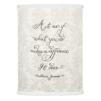 Inspirational quote calligraphy art lamp shade