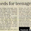 Advice For Teenagers: Old Words Take On New Meaning With Judge's Advice