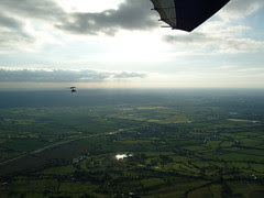 Another Microlight flying alongside