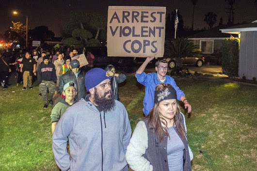 Crowds protest after off-duty cop fires gun in clash with Anaheim teens