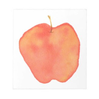 Watercolor Apple fuji_notepad