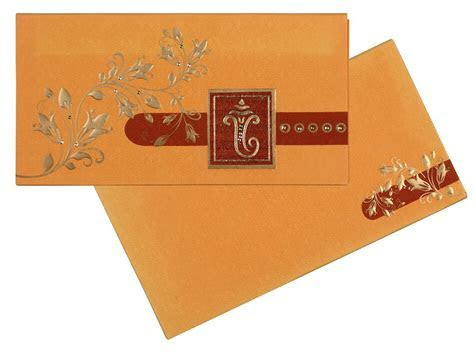 Wedding Card In Sunshine Yellow and Orange Colour