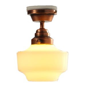Rubbed Bronze Schoolhouse Ceiling Light