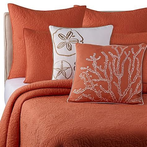 Buy Solid Seashell Coral King Quilt from Bed Bath & Beyond