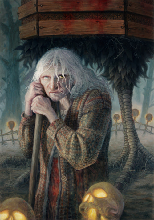 mererecorder:  Baba Yaga by ~allendouglasstudio  Great Picture! I love the details.