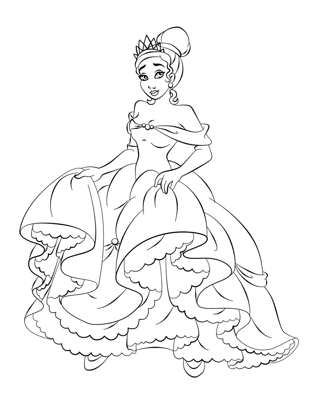 Free Princess Tiana Coloring Pages