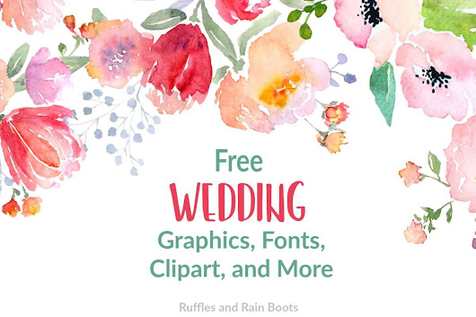 Free Wedding SVGs, Fonts, and Clipart for Gifts and Stationery - Ruffles and Rain Boots