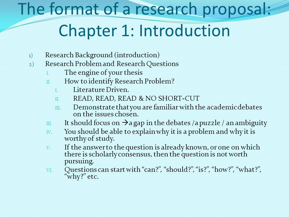 Chapter 1 introduction sample thesis