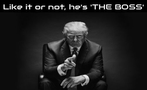 The Forgotten Position Of President Trump: He Is THE BOSS!