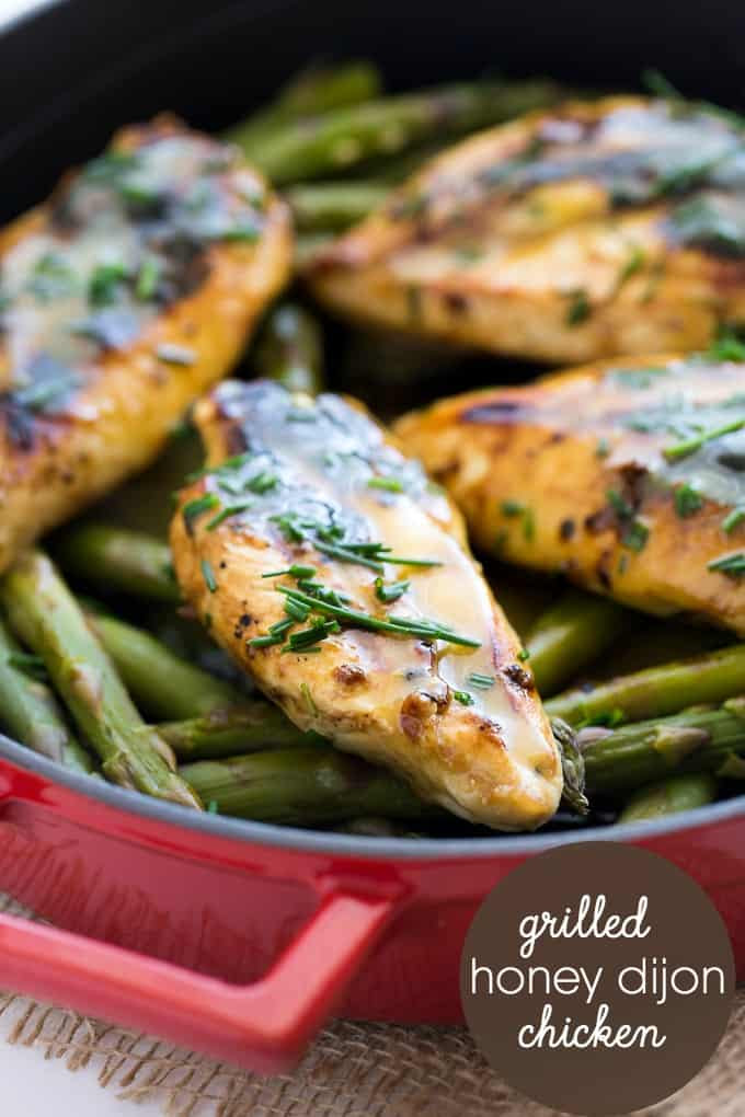 Grilled Honey Dijon Chicken by Simply Stacie