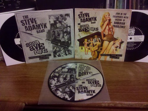 "Steve Adamyk Band / Sonic Avenues - Split 7"" - Regular, Ptrash Club and Tour Only Picture Disc"