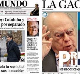 Portadas de El Mundo y La Gaceta 26-12-2012