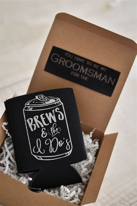 Koozies are great for wedding party proposals!   Groomsmen