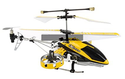 SkyMaster 7- Inch Mini RC Remote Control Helicopter, 4 Channel Infrared Remote Control Built-In Gyroscope with Metal and Plastic Frame, Multiplayer Up To 3 Helicopters
