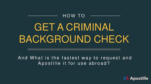 How to get a criminal background check