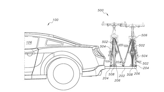 Ford patent shows fully integrated and retractable bike rack - Autoblog