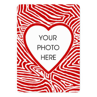 Scribbleprint Heart Photo Card Business Card Templates