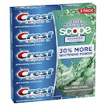 Crest Complete Extra Whitening + Scope Advanced Toothpaste 8.2oz (232g), 5-pack