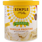 Simple Mills Frosting, Organic, Vanilla, with Coconut Oil - 10 oz
