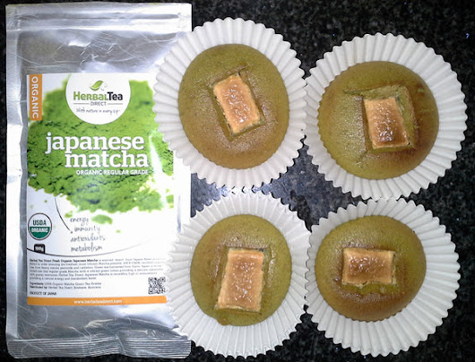 Matcha & White Chocolate Muffins Recipe - Herbal Tea Direct
